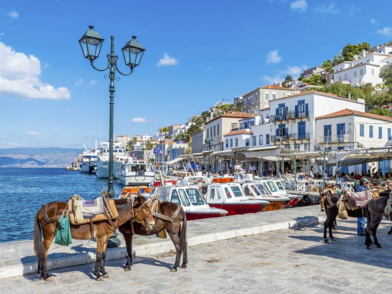 hydra boats and donkeys