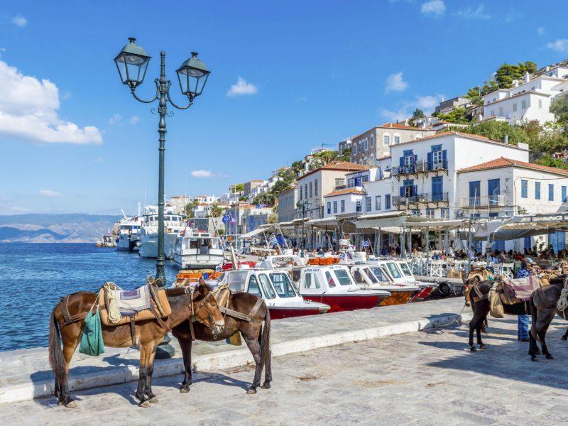 hydra boats and donkeys