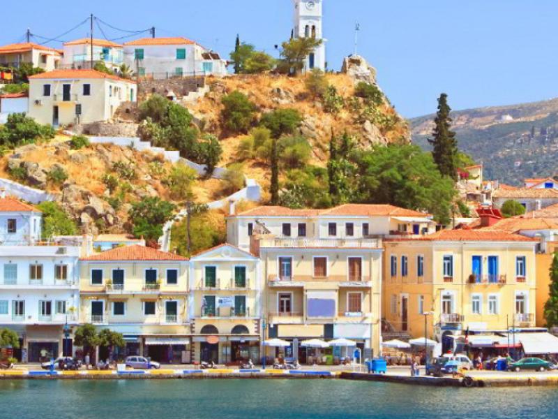 private luxury excursion of Poros-Poros harbour
