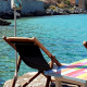 7 day private tour-Limeni chairs near the sea
