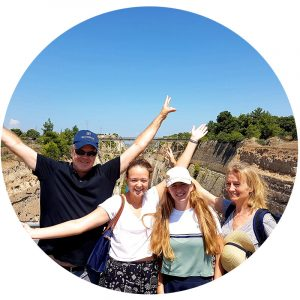 About Ancient Greece Tours_Happy customers Isthmus Canal
