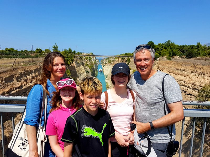 Discover Mythical Peloponnese_Happy guests at Isthmus Canal