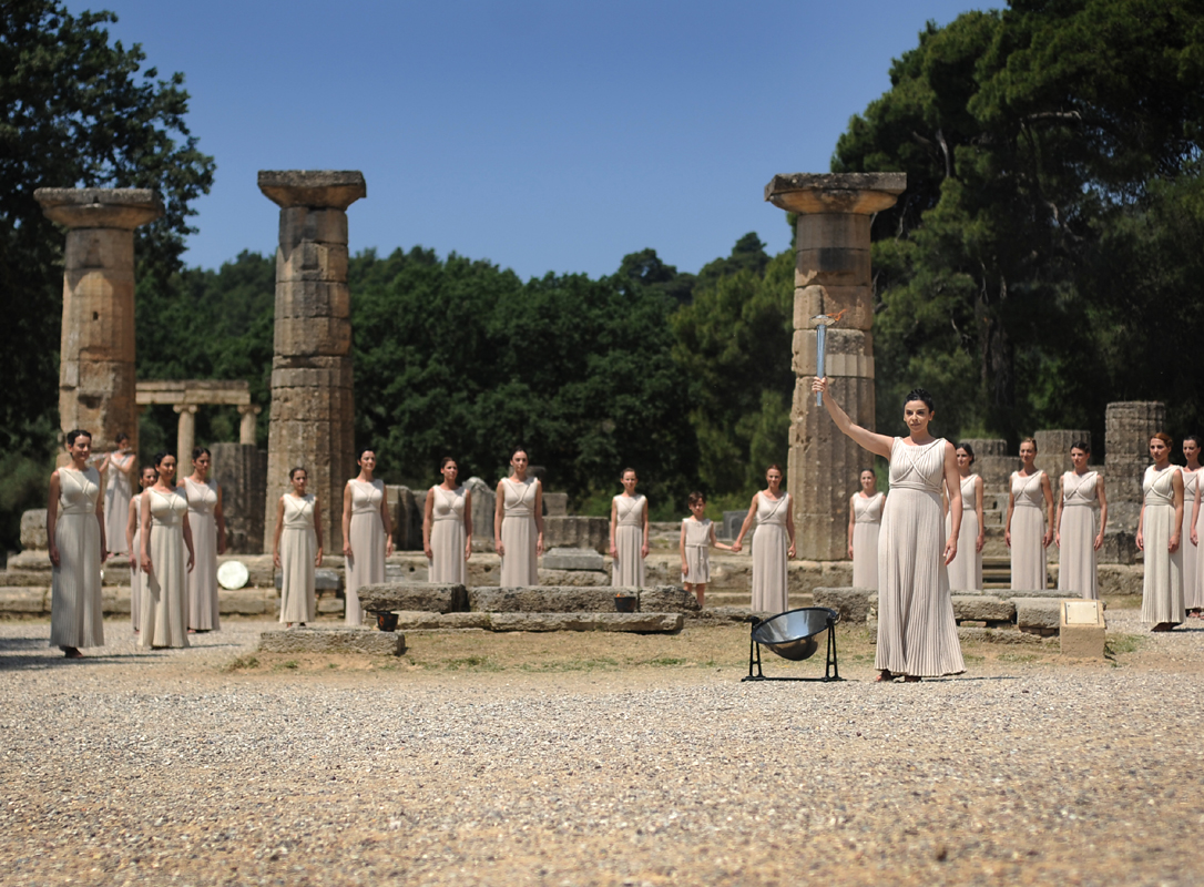 Discover Mythical Peloponnese_Olympic Flame for the London 2012 Games is lit in Ancient Olympia