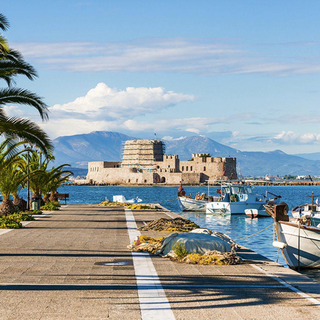 Discover_Peloponnese_medieval_side_Bourtzi_Nafplio_view