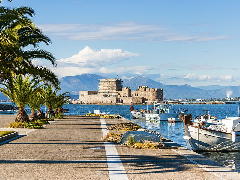 Discover_Peloponnese_medieval_side_Bourtzi_Nafplio_view