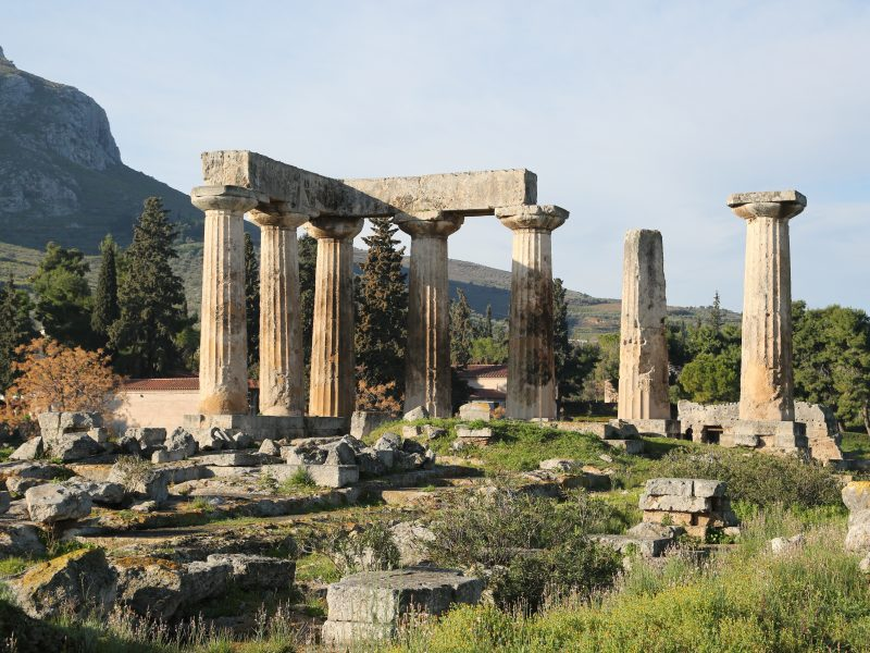 Discover Mythical Peloponnese_Temple of Apollo Ancient Corinth