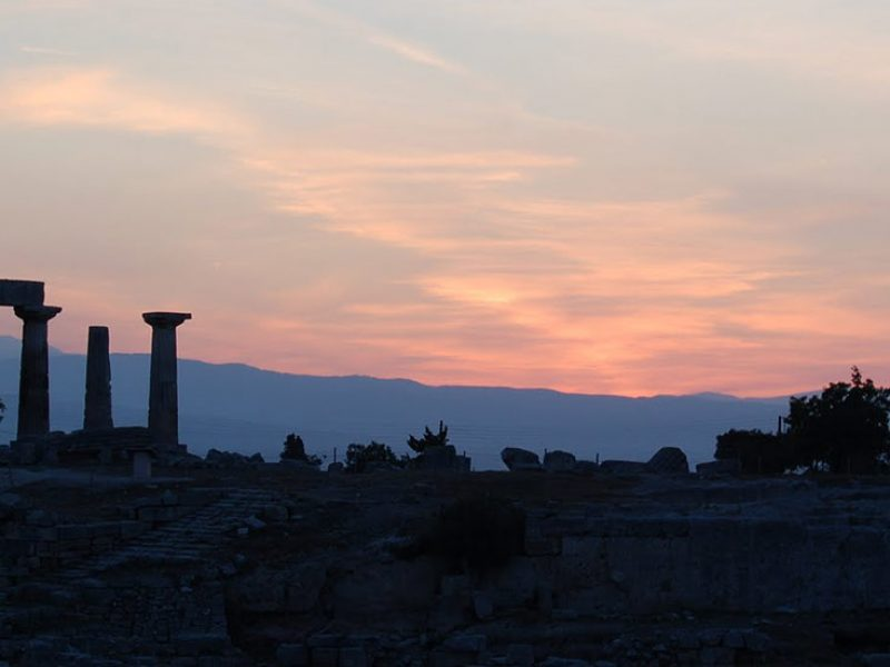 Discover Mythical Peloponnese_ancient corinth sunset