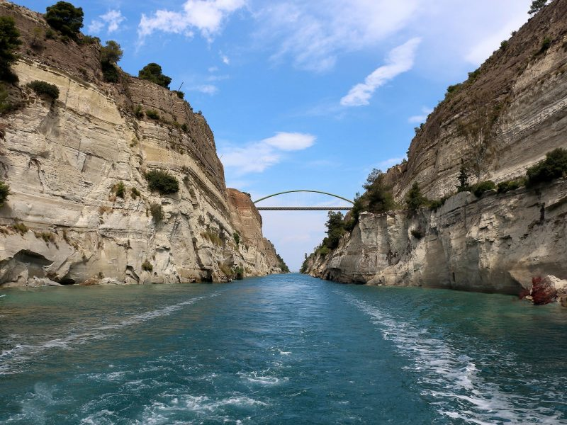 Discover Mythical Peloponnese_Sail at Corinth Canal_Peloponnese