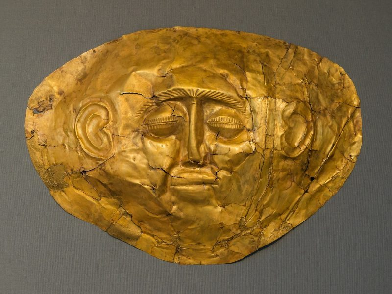 Discover Mythical Peloponnese_Death mask_mycenae_peloponnese