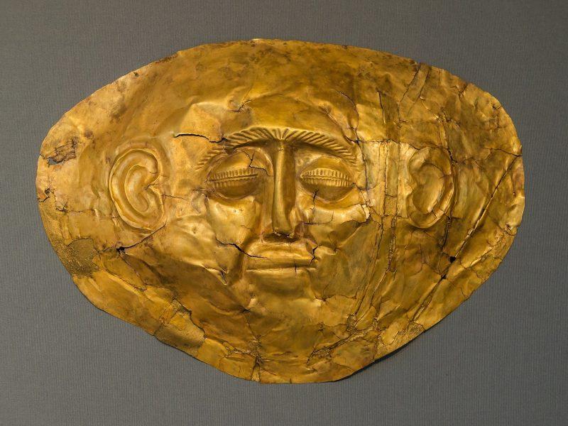 Discover Mythical Peloponnese_Death mask_mycenae_peloponnese