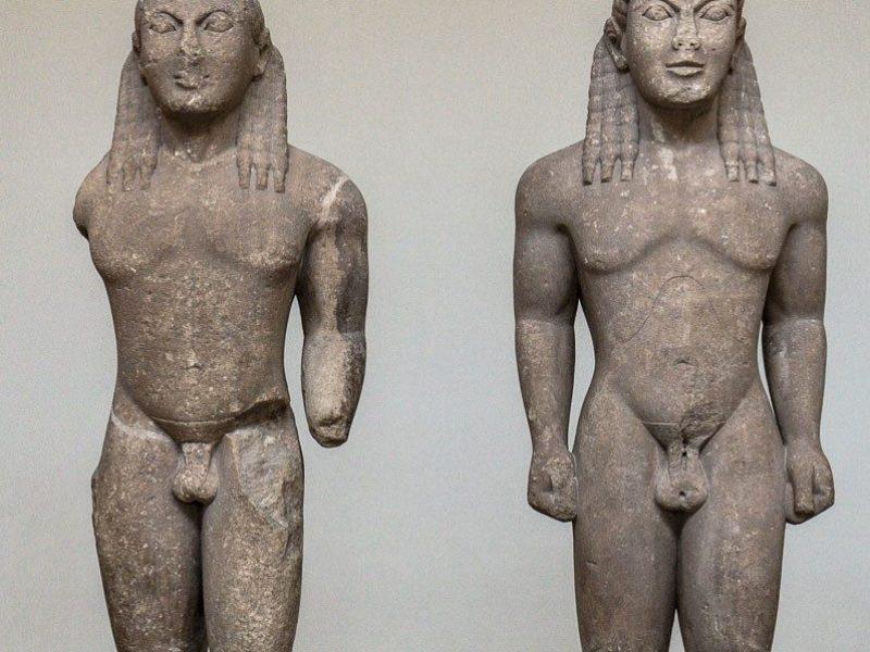 museum delphi The two Kouroi of Argos, Kelobis and Brito